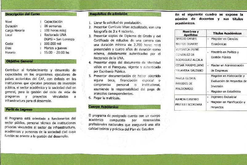 ing civil programa capacitacion: